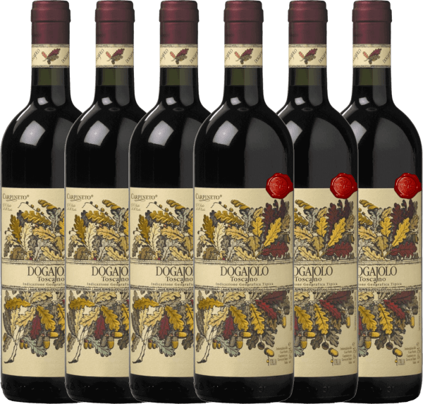 6er Vorteils-Weinpaket - Dogajolo Toscano Rosso IGT 2018 - Carpineto