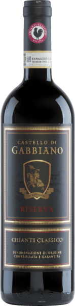Le Chianti Classico Riserva est le vin le plus célèbre du Castello di Gabbiano et a déjà reçu une multitude de récompenses au niveau international. Ce vin rouge est vinifié à partir de Sangiovese (95%) et de Merlot (5%). Dans le verre brille un rouge rubis vif avec des reflets rouge cerise. Le bouquet expressif révèle des arômes de cerises noires et de fraises - soulignés par des notes de cèdre et de tabac. Le palais jouit d'un corps élégant avec une structure tannique ferme. Ce vin rouge est agréablement frais et l'acidité est parfaitement équilibrée. La finale est d'une longueur merveilleuse et agréable. Vinification du GabbianoChianti Classico Riserva Les raisins Sangiovese et Merlot proviennent de vignes âgées de 15 ans. Une fois que les raisins sont arrivés à la cave, ils sont soigneusement sélectionnés à la main. Après le pressurage des raisins, le moût est fermenté dans des cuves en acier inoxydable sous contrôle de température. Enfin, ce vin repose pendant 12 mois dans de petits fûts (80% de seconde occupation, 20% de neuf) ainsi que dans de grands fûts en chêne français. Aliments recommandés pour la Riserva Chianti ClassicoCastello di Gabbiano Servez ce vin rouge sec d'Italie avec des viandes grillées, des pâtes avec une sauce épicée et un risotto aux champignons. Nous vous recommandons de décanter ce vin avant de le servir. Récompenses pour leChianti Classico Riserva du Castello di Gabbiano Mundus Vini : l'argent pour 2013 Wine Spectator : 92 points pour 2013 Robert Whitley : 93 points pour 2013