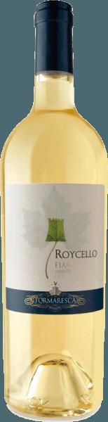 Le Roycello Fiano Salento IGT de Tormaresca brille dans le verre jaune paille aux reflets verdâtres et révèle son bouquet complexe et fruité. Il caresse le nez avec des arômes de pêche blanche et d'agrumes, complétés par des notes florales de jasmin et de délicates nuances végétales. En bouche, ce vin blanc du sud de l'Italie démarre doucement, suivi d'une acidité vivifiante et agréable Vinification pour l'IGT Tormaresca Roycello Fiano Salento Les raisins de ce Fiano monocépage proviennent des vignobles de la Tenuta Maìme, dans la province de Brindisi, dans les Pouilles. Les raisins ont été récoltés au moment optimal de leur maturité. Le moût a été stocké dans un endroit frais pour obtenir une clarification naturelle. Ensuite, la fermentation alcoolique et l'élevage pendant 4 mois sur les lies fines dans des cuves en acier inoxydable. Une courte période de vieillissement en bouteille donne au Roycello sa touche finale. Recommandation alimentaire pour le Roycello Fiano Salento de Tormaresca Dégustez ce vin blanc sec des Pouilles en apéritif ou avec des sushis et du poulet. Prix pour le RoycelloFiano Salento IGT de Tormaresca Gambero Rosso : 2 verres pour 2016 James Suckling : 90 points pour 2015 Vini Buoni d'Italia : 3 étoiles pour 2014