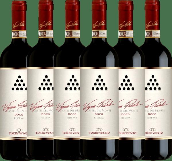 6er Vorteils-Weinpaket - Vigna Pedale Castel del Monte Riserva DOCG 2015 - Torrevento