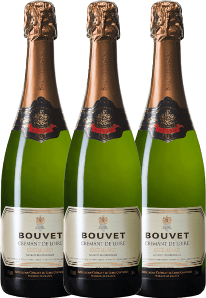 3er Vorteils-Weinpaket - Crémant Brut Blanc Excellence - Bouvet Ladubay