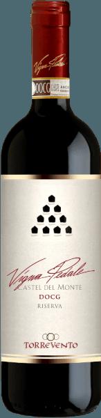 LeVigna Pedale Castel del Monte Riserva DOCG de Torrevento est un véritable chasseur de médailles. Ce Nero di Troia monocépage des Pouilles se présente dans le verre avec une couleur rouge rubis profond. Sur les bords, ce vin de tête se transforme en un délicat rouge grenat. Le premier nez de la Vigna Pedale de Torrevento promet de merveilleuses épices de poivre, de tapis forestier, de champignons, de sous-bois et de toutes sortes de fruits à baies noires. Le thym et les nuances minérales du sol argilo-calcaire complètent parfaitement le bouquet de la Vigna Pedale. En bouche, le fleuron de Torrevento démarre merveilleusement bien en chair et en os. Un vin concentré, d'une longueur considérable, avec des tanins caractéristiques et accrocheurs qui s'arrondissent agréablement avec l'air sans perdre leur profil. Encore un bel équilibre de fruits et d'épices sur la finale étonnamment longue. Vinification de laTorreventoVigna Pedale Castel del Monte Riserva Les raisins proviennent de la région de production classée DOCGCastel del Monte et sont issus de vignobles situés à quelques centaines de mètres seulement de la mer. Ainsi, le climat tempéré par la mer Adriatique et, en même temps, le sol minéral et aride garantissent un excellent matériau pour le raisin. Après la récolte, les raisins sont immédiatement amenés à la cave et, après une nouvelle sélection, sont écrasés. Après une longue macération, la fermentation commence dans des cuves en acier inoxydable, suivie d'un soutirage en acier inoxydable et de 8 mois de maturation. Il est suivi de 12 mois supplémentaires dans de grands fûts de chêne avant que la Vigna Pedale Castel del Monte de Torrevento ne soit finalement mise en bouteille. Recommandation alimentaire pour la Vigna Pedale de Torrevento Dégustez cet extraordinaire vin rouge des Pouilles avec du bœuf, des rôtis juteux, du gibier, du fromage à pâte dure mûr et du salami. Prix de la Vigna PedaleCastel del Monte Riserva Gambero Rosso : 3 verres pour 2015 Bibenda :