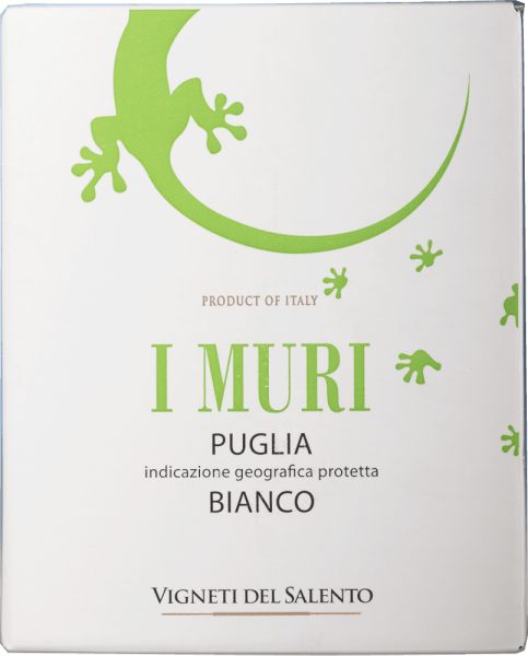 I Muri Bianco Puglia 3,0 l Bag in Box Weinschlauch - Vigneti del Salento