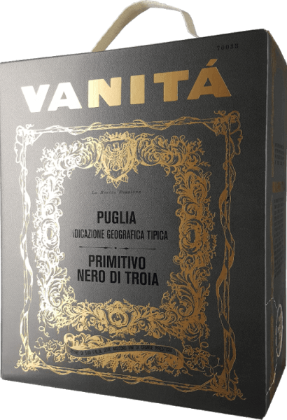 Vanita Primitivo Nero di Troia 3,0 l Bag in Box Weinschlauch 2019 - Vigneti del Salento
