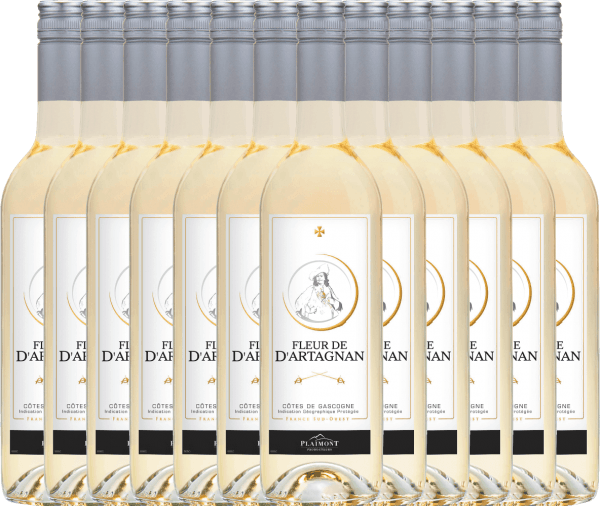 12er Vorteils-Weinpaket - Fleur de d'Artagnan Blanc 2019 - Plaimont