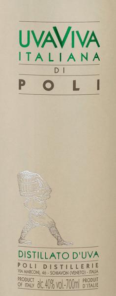Jacopo Poli'sUva Viva Italiana di Poli est un alcool de raisin frais et vif, distillé à partir des cépages Malvasia (60%) et Moscato (40%). Dans le verre, ce brandy se présente sous une couleur claire et transparente. Le bouquet fin et fruité est caractérisé par des notes intenses d'abricots mûrs, de poires juteuses et de fleurs d'oranger. En bouche, cette eau-de-vie de raisin italienne convainc par sa texture fraîche et son corps vif Distillation de l'Uva Viva Italiana di Poli Les raisins Malvasia et Moscato sont d'abord fermentés dans des cuves en acier inoxydable à température contrôlée. Ce vin est ensuite distillé avec les raisins, traditionnellement dans de vieux alambics en cuivre. Après le processus de distillation, cette eau-de-vie de raisin contient encore 75 % en volume. En ajoutant de l'eau distillée, la Uva Viva Italiana di Poliatteint une teneur en alcool de 40 % en volume. Ensuite, cette eau-de-vie de raisin repose pendant au moins 6 mois dans des cuves en acier inoxydable pour être finalement mise en bouteille avec une légère filtration. Recommandation de service pour leUva Viva Italiana di Poli Jacopo Poli Dégustez cette eau-de-vie de raisin d'Italie à une température de 10 à 15 degrés en digestif après un menu délicieux ou avec des desserts tels que la tarte aux abricots.