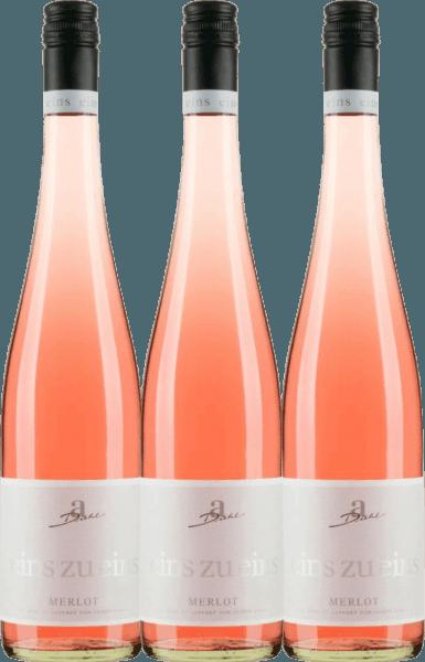 3er Vorteils-Weinpaket - Merlot Rosé eins zu eins feinherb 2020 - A. Diehl