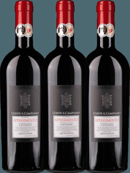 3er Vorteils-Weinpaket - Appassimento 2020 - Conte di Campiano