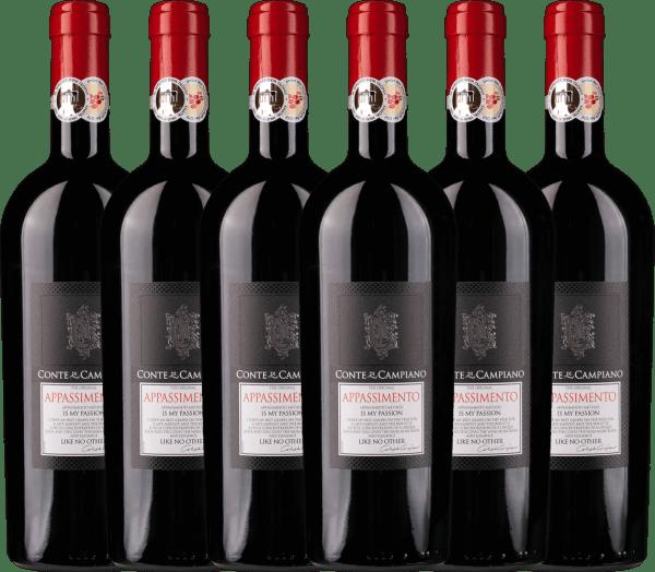 6er Vorteils-Weinpaket - Appassimento 2020 - Conte di Campiano